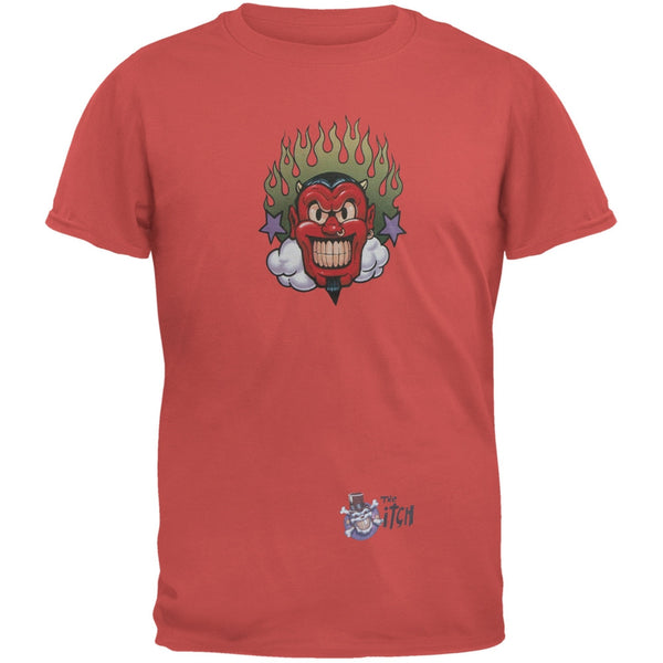 Devil & Flames Red Adult T-Shirt