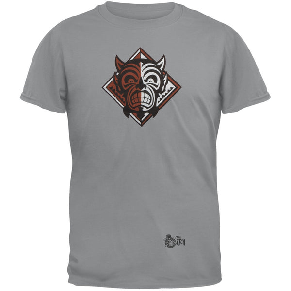 Monkey Demon Logo Grey Adult T-Shirt