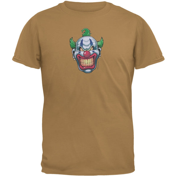 Joker Grinning Brown Adult T-Shirt