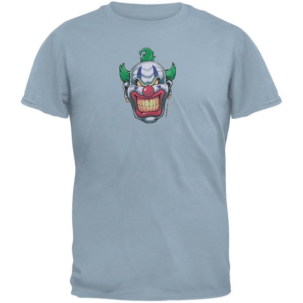 Joker Grinning Light Blue Adult T-Shirt