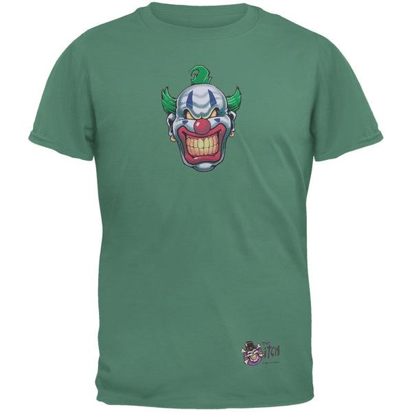 Joker Grinning Teal Adult T-Shirt