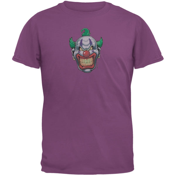 Joker Grinning Dark Purple Adult T-Shirt