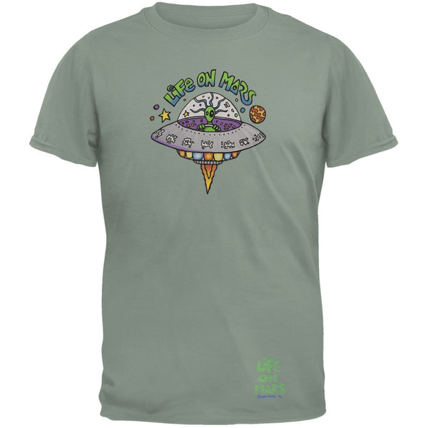 Joey Mars - Life On Mars UFO Grey Adult T-Shirt