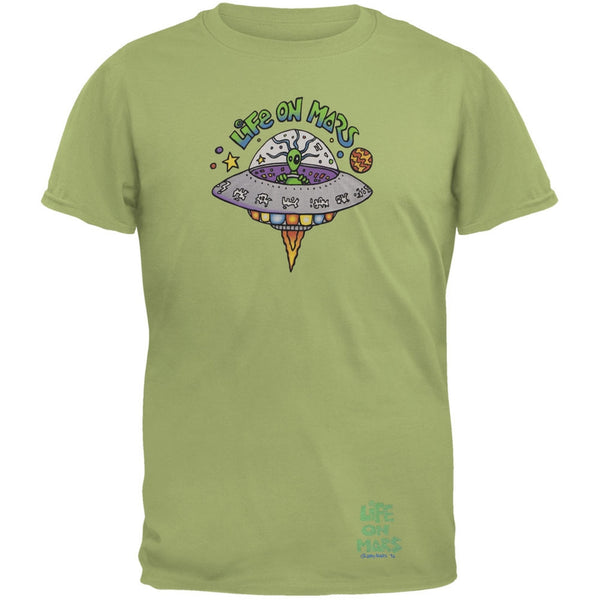 Joey Mars - Life On Mars UFO Olive Adult T-Shirt