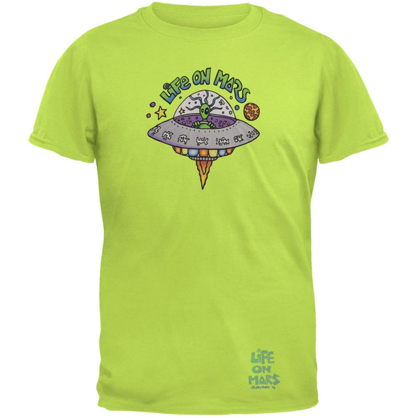 Joey Mars - Life On Mars UFO Lime Green Adult T-Shirt