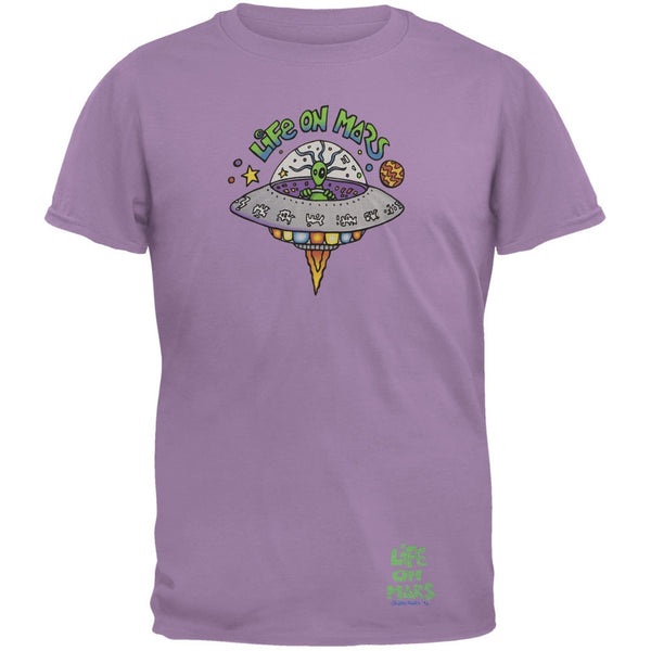 Joey Mars - Life On Mars UFO Purple Adult T-Shirt