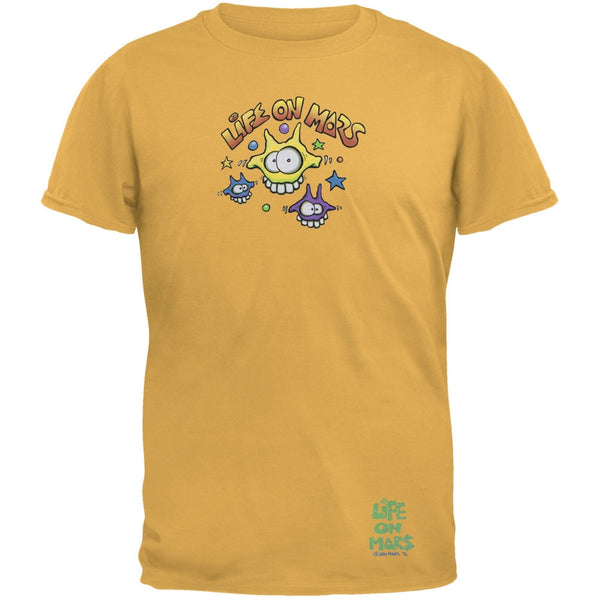 Joey Mars - Life On Mars Martian Toon Faces Yellow Adult T-Shirt