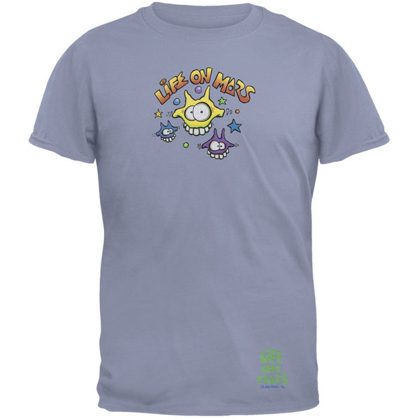 Joey Mars - Life On Mars Martian Toon Faces Light Blue Adult T-Shirt