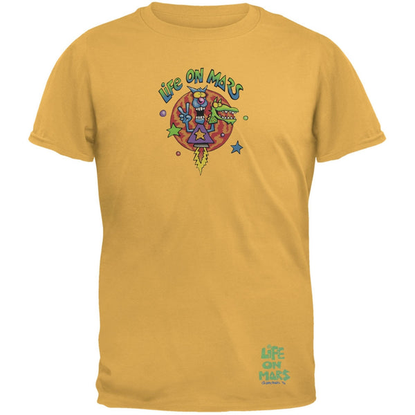 Joey Mars - Life On Mars Rocket Guy Yellow Adult T-Shirt