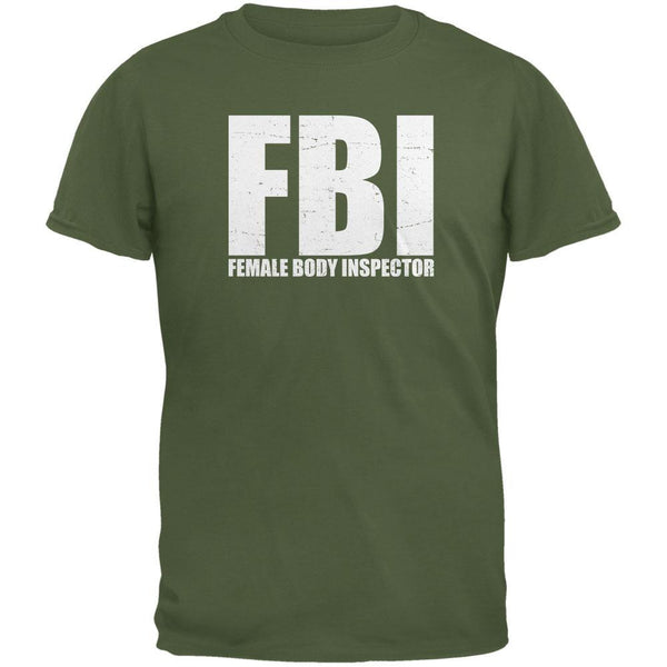 Female Body Inspector Military Green Adult T-Shirt