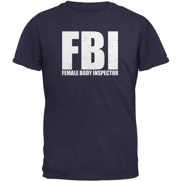 Female Body Inspector Navy Adult Sleeveless Shirt