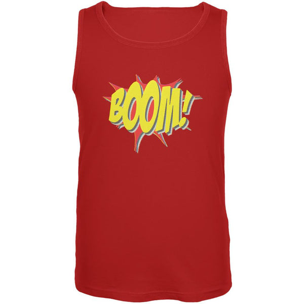 BOOM Comic Book Super Hero Red Adult Tank Top
