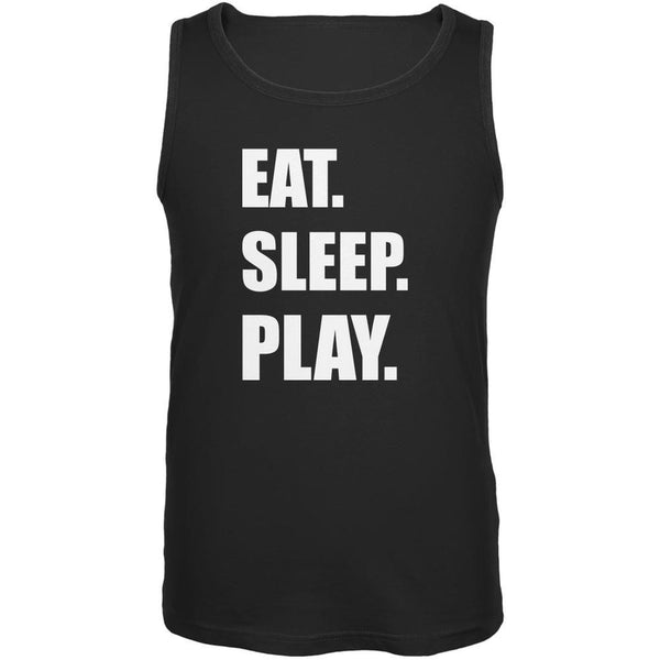 Eat Sleep Play Black Adult Tank Top