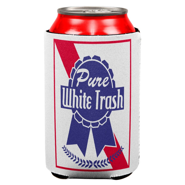 Pure White Trash All Over Can Cooler