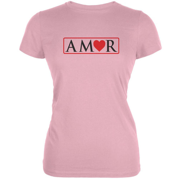 Amor Pink Juniors Soft T-Shirt