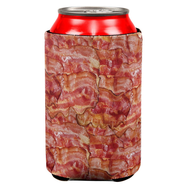 Bacon All Over Can Cooler