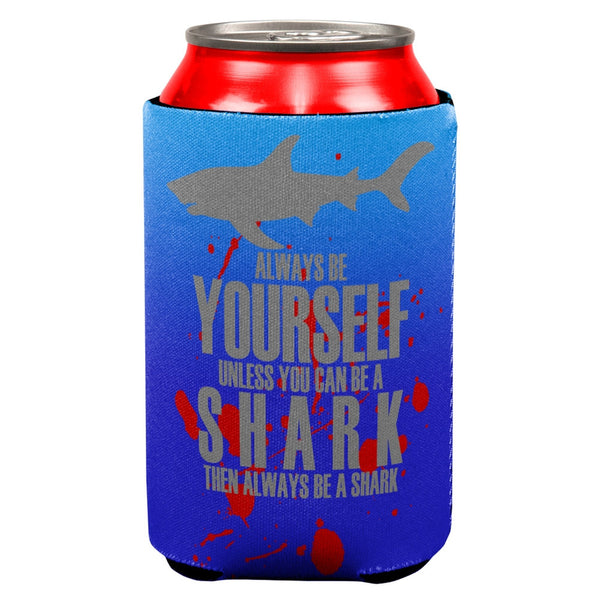 Always Be Yourself Shark Attack All Over Can Cooler
