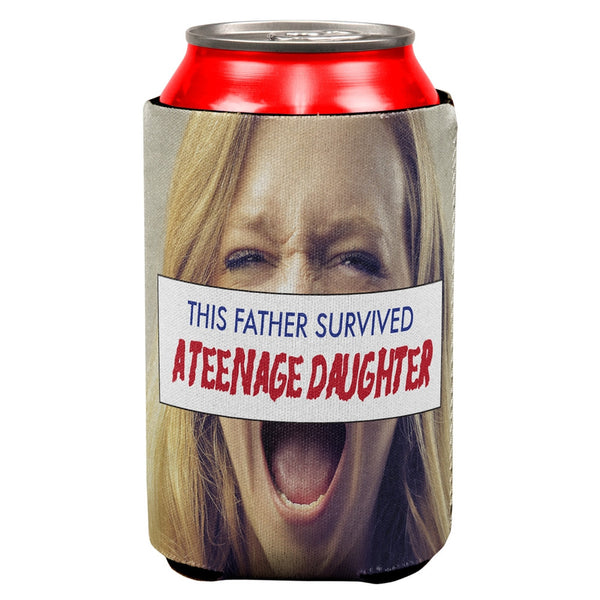 Father's Day Survived a Teenage Daughter All Over Can Cooler