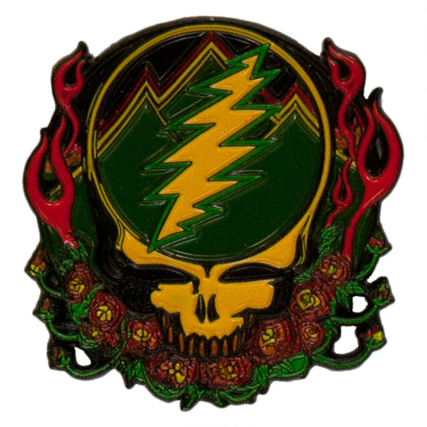 Grateful Dead - Scarlet Fire Steal Your Face Enamel Pin