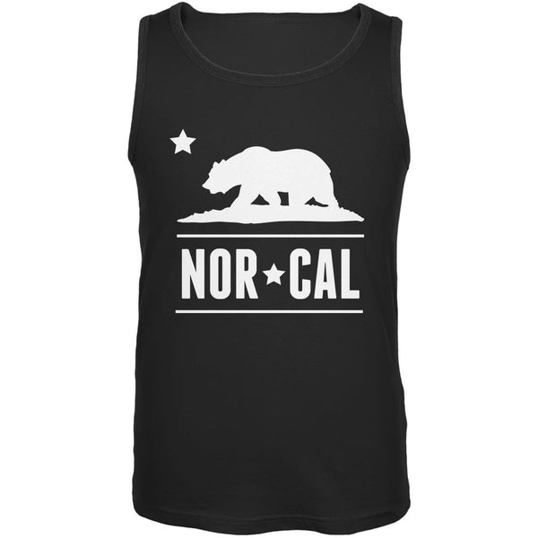 California Republic NorCal Black Adult Tank Top