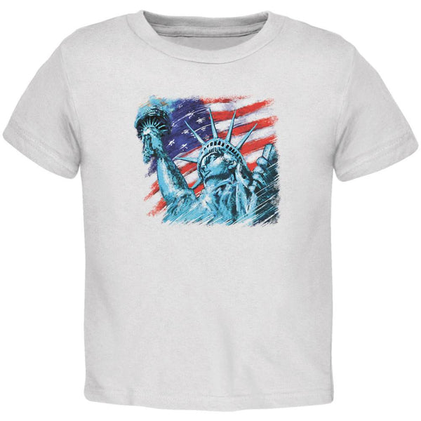 4th of July Statue of Liberty White Toddler T-Shirt