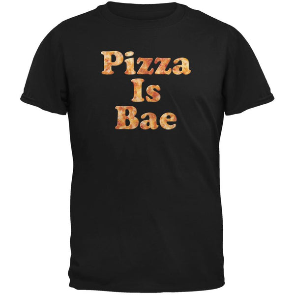 Pizza Is Bae Black Adult T-Shirt