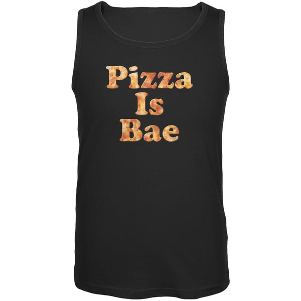 Pizza Is Bae Black Adult Tank Top