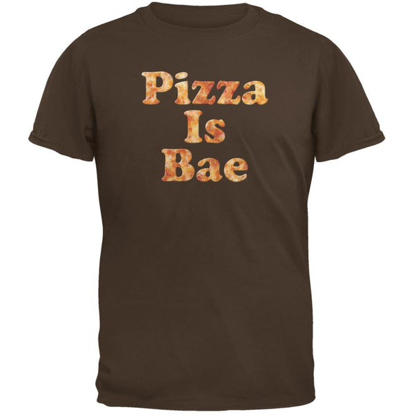 Pizza Is Bae Brown Adult T-Shirt