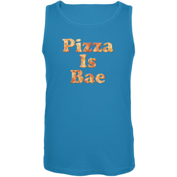 Pizza Is Bae Turquoise Adult Tank Top