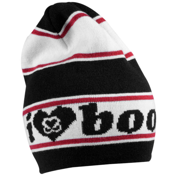 Keep A Breast - I Love Boobies Black Knit Beanie