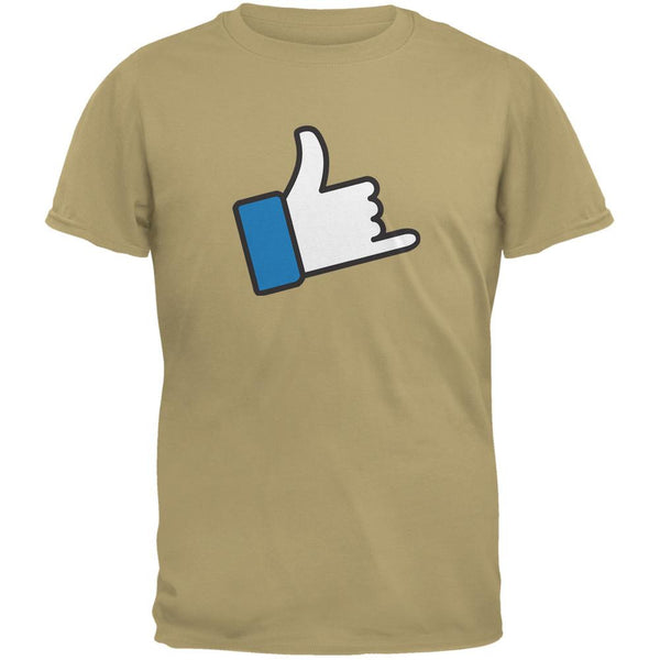 Shaka Like Hand Tan Adult T-Shirt