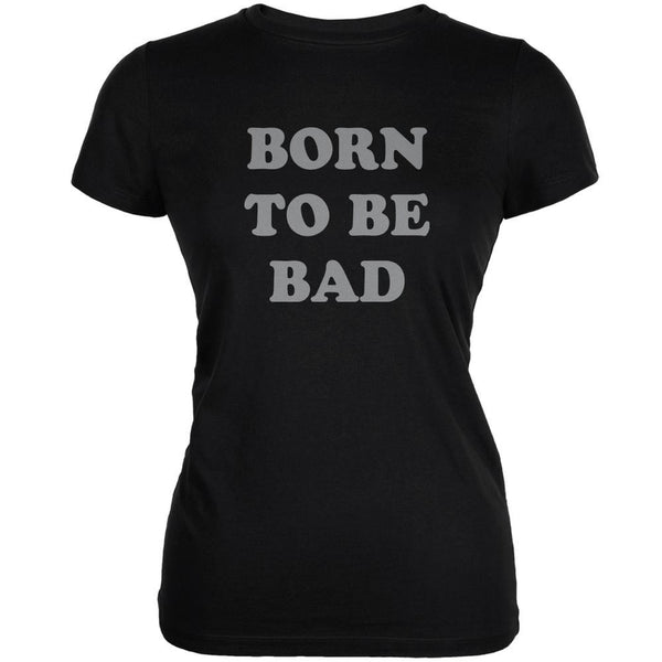 Born To Be Bad Inspired By Joan Jett Black Juniors Soft T-Shirt