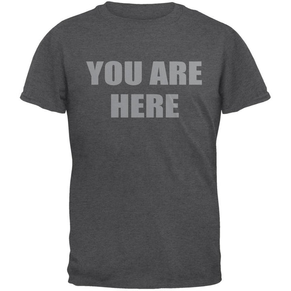 You Are Here Inspired By John Lennon Dark Heather Adult T-Shirt