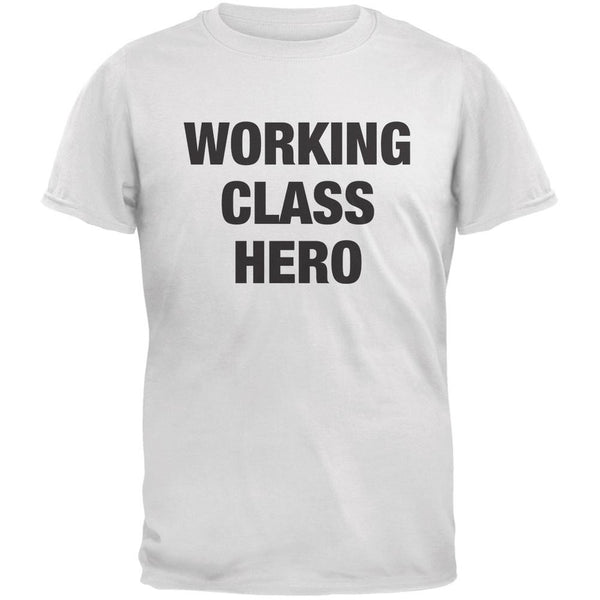 Working Class Hero Inspired By John Lennon White Adult T-Shirt
