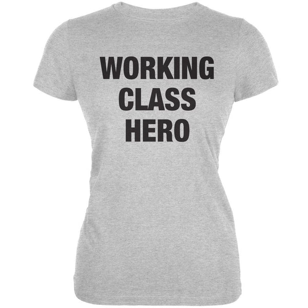 Working Class Hero Inspired By John Lennon Heather Grey Juniors Soft T-Shirt