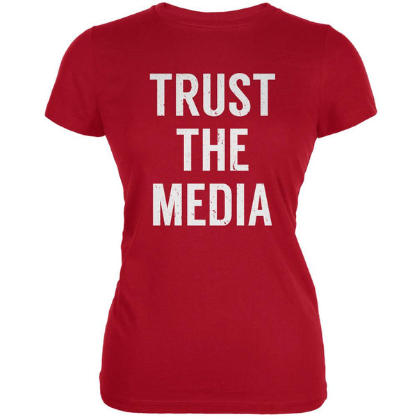 Trust The Media Inspired By Michael Stipe Red Juniors Soft T-Shirt