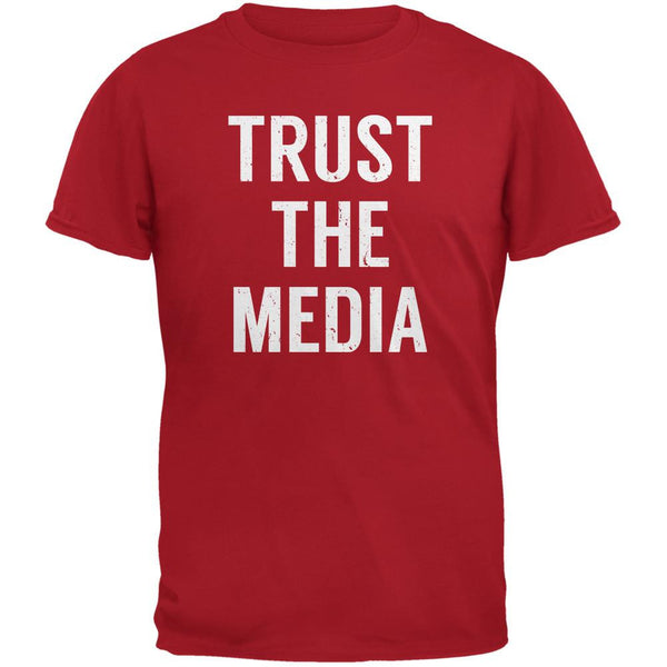 Trust The Media Inspired By Michael Stipe Red Adult T-Shirt