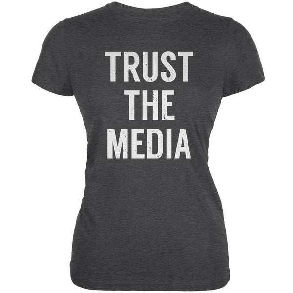 Trust The Media Inspired By Michael Stipe Dark Heather Juniors Soft T-Shirt