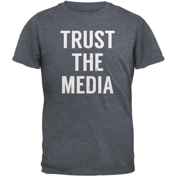 Trust The Media Inspired By Michael Stipe Dark Heather Adult T-Shirt