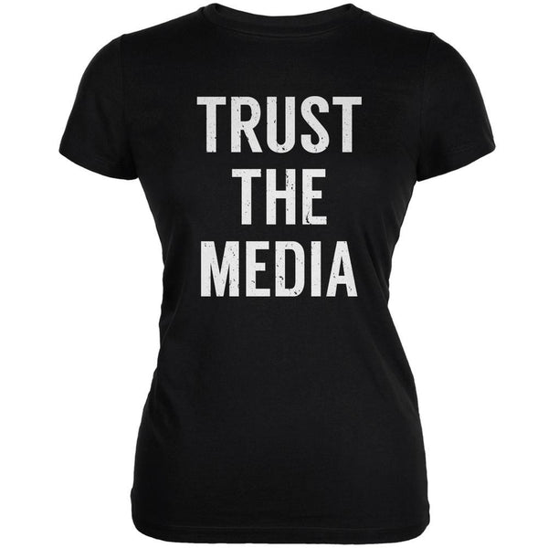 Trust The Media Inspired By Michael Stipe Black Juniors Soft T-Shirt