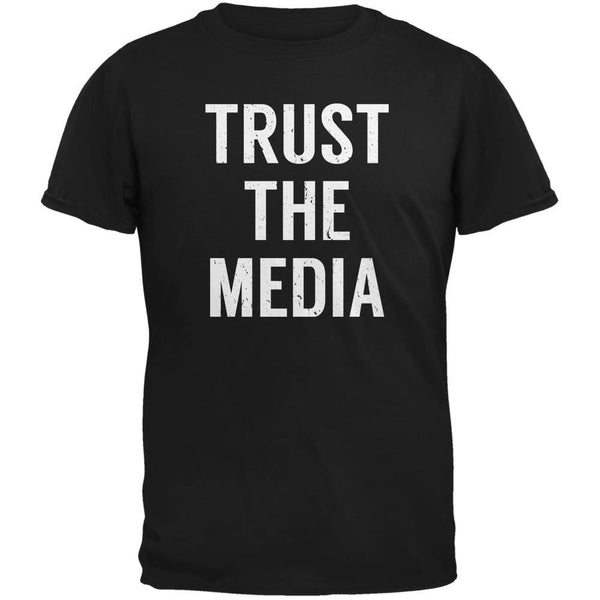 Trust The Media Inspired By Michael Stipe Black Adult T-Shirt