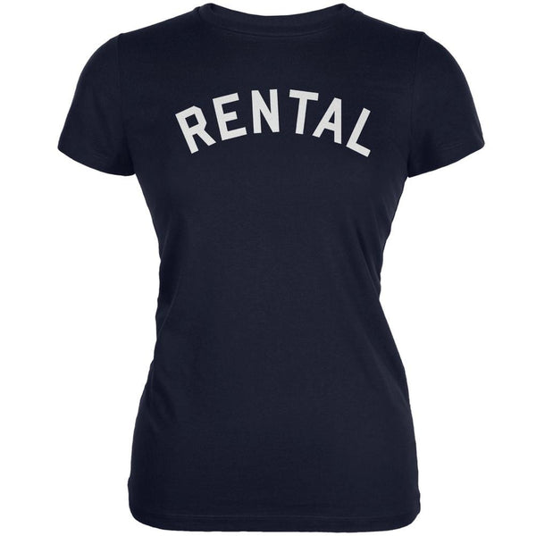Rental Inspired By Frank Zappa Navy Juniors Soft T-Shirt