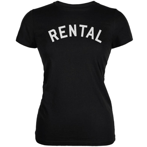 Rental Inspired By Frank Zappa Black Juniors Soft T-Shirt