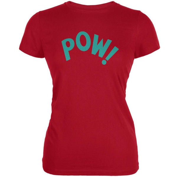 POW Inspired By Keith Moon Red Juniors Soft T-Shirt