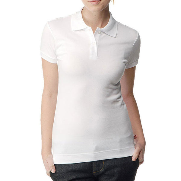 Dickies Girl - Solid Pique White Women's Polo