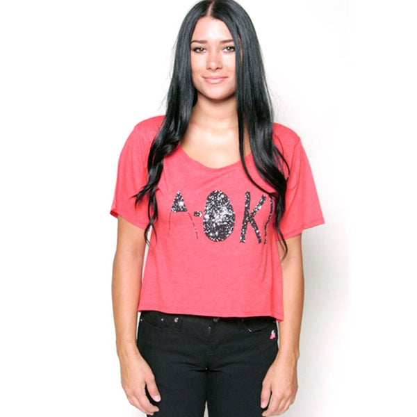 Glamour Kills - A Ok Juniors Slouchy Crop Top T-Shirt