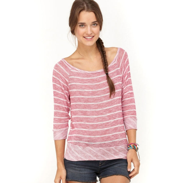 Roxy - Sandy Cove Neon Berry Juniors Long Sleeve T-Shirt