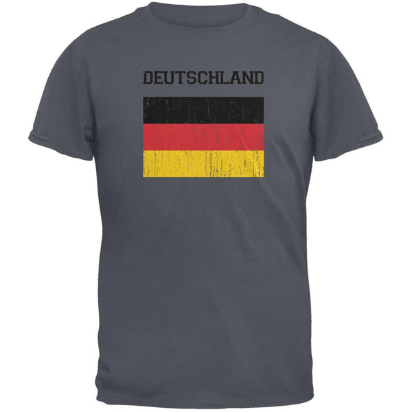 World Cup Distressed Flag Deutschland Charcoal Youth T-Shirt