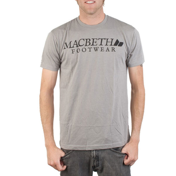 Macbeth - Vintage Logo Charcoal Adult T-Shirt
