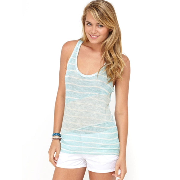 Roxy - Common Ground Stripe Juniors Tank Top